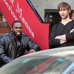 Chace Crawford in New York with 50 Cent shooting scenes for Twelve 37815