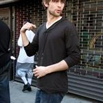 Chace Crawford in New York with 50 Cent shooting scenes for Twelve 37813