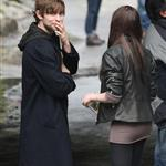 Chace Crawford shooting Twelve with Zoe Kravitz in New York 37300