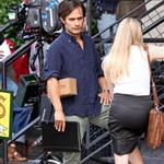 Gael Garcia Bernal and Amanda Seyfriend on set of Letters to Juliet in Soho 45304