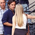 Gael Garcia Bernal and Amanda Seyfriend on set of Letters to Juliet in Soho 45303