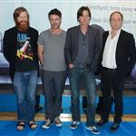 David Wilmot, Aidan Gillen, James Marsh and Michael McElhatton at the Irish premiere of 'Shadow Dancer' 124029