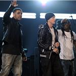 Drake, Eminem and Lil Wayne at the Grammy Awards 2010  54449