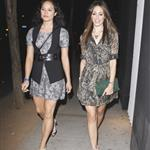 Emmy Rossum with twin friend leaving Troubadour 68075