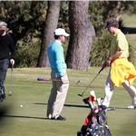 Mark Wahlberg and Will Ferrell play golf in Australia while promoting The Other Guys 67129