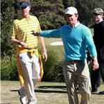 Mark Wahlberg and Will Ferrell play golf in Australia while promoting The Other Guys 67135