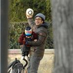 Gael Garcia Bernal and Dolores Fonzi with baby Lazarus in Madrid  56939