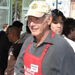 Harrison Ford Calista Flockhart volunteer for  Thanksgiving at the Los Angeles Miss 15185