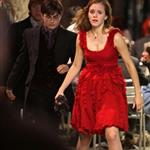 Emma Watson, Daniel Radcliffe, and Rupert Grint shoot Harry Potter and the Deathly Hallows in Piccadilly Circus 37245