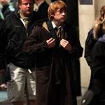 Emma Watson, Daniel Radcliffe, and Rupert Grint shoot Harry Potter and the Deathly Hallows in Piccadilly Circus 37256