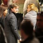 Emma Watson, Daniel Radcliffe, and Rupert Grint shoot Harry Potter and the Deathly Hallows in Piccadilly Circus 37259
