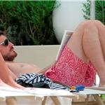 Iker Casillas and Sara Carbonero bikini poolside in LA July 2010  66230