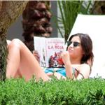 Iker Casillas and Sara Carbonero bikini poolside in LA July 2010  66235
