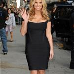 Jessica Simpson wears Herve Leger to Letterman 24676