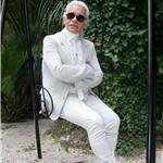 Karl Lagerfeld and muse Baptiste in St Tropez  67080