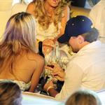 Leonardo DiCaprio and Bar Rafaeli with Naomi Campbell in Sardinia for jewel party  66831