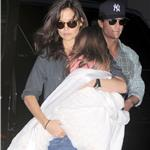 Tom Cruise Katie Holmes in New York with Suri leaving Serendipity III 68240