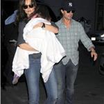 Tom Cruise Katie Holmes in New York with Suri leaving Serendipity III 68242