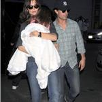 Tom Cruise Katie Holmes in New York with Suri leaving Serendipity III 68243