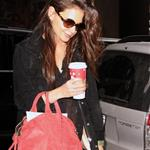Katie Holmes out in New York 102703