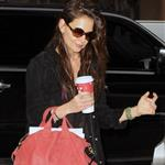 Katie Holmes out in New York 102704
