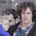 Aaron Taylor-Johnson with daughter Wylda Rae on the set of Kick-Ass 2 in Toronto  126480