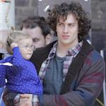 Aaron Taylor-Johnson with daughter Wylda Rae on the set of Kick-Ass 2 in Toronto  126483