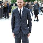 Aaron Paul arrives at the Burberry Spring Summer 2013 Womenswear Show at London Fashion Week 126513
