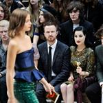 Aaron Paul sits front row with Dita Von Teese, Harry Styles, Dev Patel, and Gabriella Wilde at the Burberry Spring Summer 2013 Womenswear Show at London Fashion Week 126518