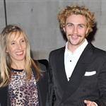 Aaron Johnson Sam Taylor-Wood blonde together at London Film Festival  97210
