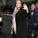 Adele arrives at Letterman  79694