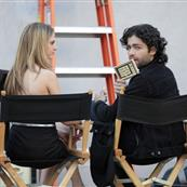 Adrian Grenier shooting commercial for American Eagle at Villa 18080