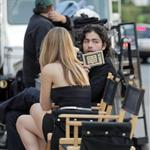 Adrian Grenier shooting commercial for American Eagle at Villa 18081