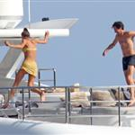 Adrien Brody and girlfriend Lara Lieto on a yacht in Saint Tropez  119806