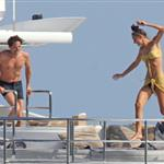 Adrien Brody and girlfriend Lara Lieto on a yacht in Saint Tropez  119807