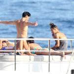 Adrien Brody and girlfriend Lara Lieto on a yacht in Saint Tropez  119841