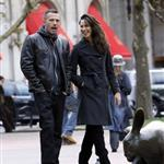 Ben Affleck and Rebecca Hall enjoying themselves filming The Town in Boston  48013