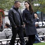 Ben Affleck and Rebecca Hall enjoying themselves filming The Town in Boston  48020