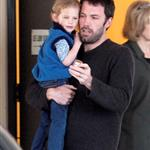 Ben Affleck picking up Violet at school a couple of weeks ago 36152