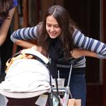 Jessica Alba in New York with baby Honor for fashion week sitting next to Claire Danes and Juliana Margulies 24566