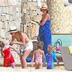 Jessica Alba shows off post baby body in bikini for NYE in Mexico with family  101557
