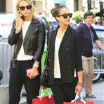 Jessica Alba shopping with a friend in Paris during Paris Fashion Week  119556