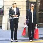 Jessica Alba shopping with a friend in Paris during Paris Fashion Week  119561