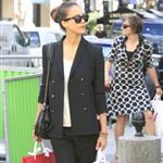 Jessica Alba shopping with a friend in Paris during Paris Fashion Week  119566
