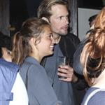 Alexander Skarsgard with gorgeous brunette at Comic-Con party 90856