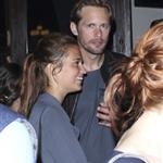 Alexander Skarsgard with gorgeous brunette at Comic-Con party 90859