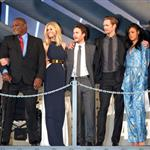 Peter Burg, Gregory D. Gadson, Brooklyn Decker, Taylor Kitsch, Alexander Skarsgard, Rihanna and Tadanobu Asano attend the Battleship Japan Premiere at International Yoyogi first gymnasium Tokyo 110464