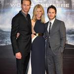 Brooklyn Decker, Taylor Kitsch, and Alexander Skarsgard attend the Battleship Japan Premiere at International Yoyogi first gymnasium Tokyo 110470
