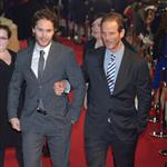 Peter Burg and Taylor Kitsch attend the Battleship Japan Premiere at International Yoyogi first gymnasium Tokyo 110472