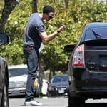 Alexander Skarsgard gets angry at paparazzi after filling up at gas station  89062